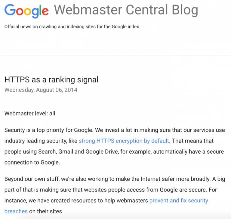 google seo trend
